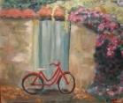 La bicicleta. 51x43. 35€ Óleo sobre papel