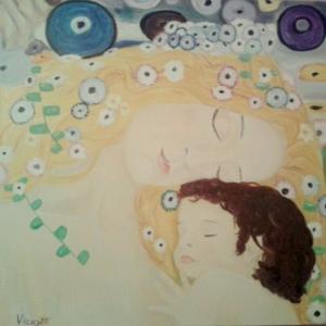 """Versión del cuadro de Klimt """"Las tres edades de la mujer"""""""