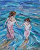 Niñas en el Mar
